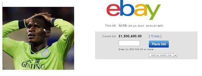 Il calciatore Benteke si mette su eBay