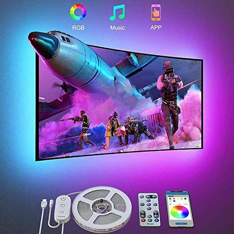 Govee Retroilluminazione 3m TV, Striscia LED RGB USB con App Control
