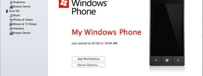 Microsoft aggiorna Windows Phone 7 Connector
