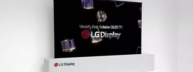 La televisione pieghevole di LG già nel 2019