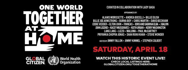 One World: Together at Home, come seguire il concerto