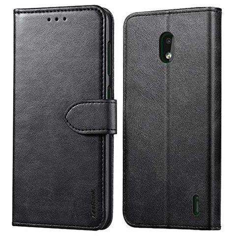 TesRank Cover Nokia 2.2, Flip Caso in Pelle Premium Portafoglio Custodia a Libro per Nokia 2.2- Flip Magnetica con Funzione di appoggio-Nero