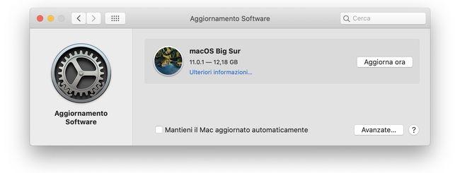 macOS Big Sur: Disponibile per il download