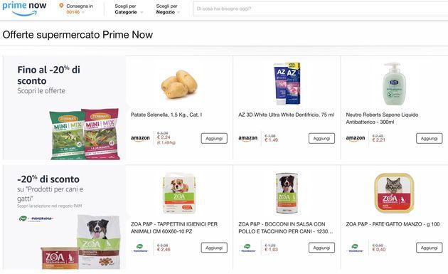 Offerte supermercato Prime Now