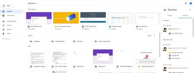 Google Drive, nuova interfaccia web