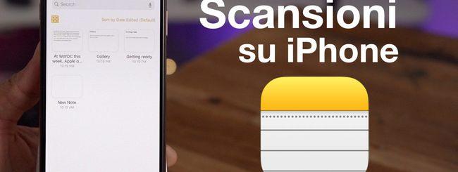 iOS 14: effettuare scansioni (e ricerche nei documenti) con l'app Note