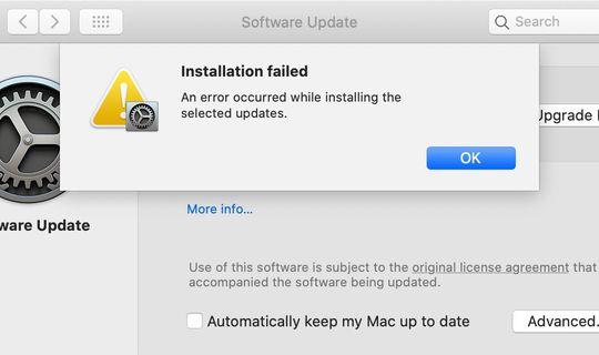macOS Big Sur, raffica di errori durante l'installazione