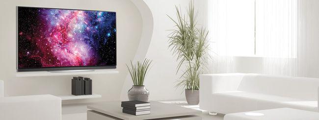 LG punta sulle TV OLED: le serie E7V, C7V e B7V