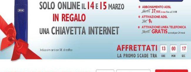 """Telecom Italia, """"Tutto Senza Limiti"""" con Internet Key in omaggio a 37,90€ al mese"""