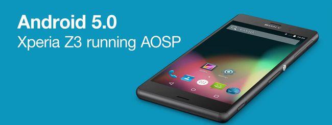 Android 5.0 Lollipop in azione su Sony Xperia Z3