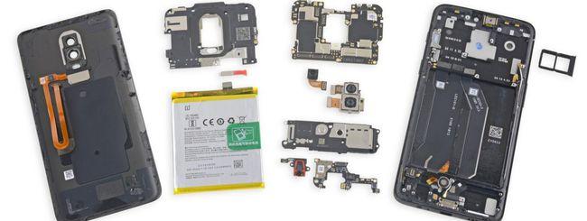 OnePlus 6 meno riparabile del OnePlus 5T