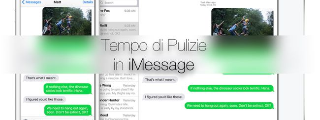 Eliminare foto in iMessage per guadagnare spazio su iPhone
