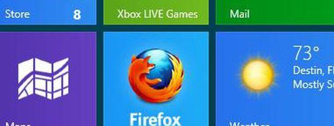 Firefox per Windows 8, immagini della versione Metro