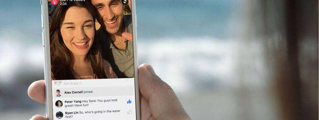 Facebook: live video streaming per tutti