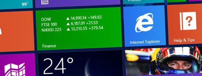 Windows 8 sale al 5,40%, cresce IE10