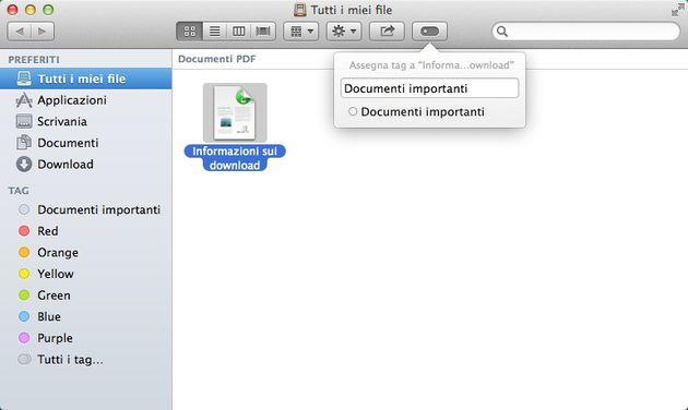Tag Finder OS X Mavericks