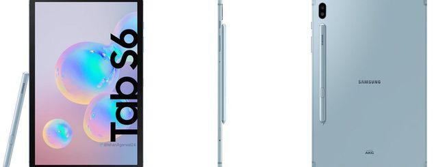 Samsung Galaxy Tab S6, immagini ufficiali