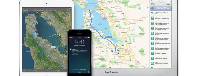 Mappe di iOS 8: traffico real time e molto altro