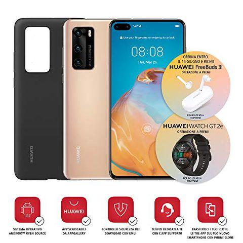 Huawei P40 con Cover (Oro)