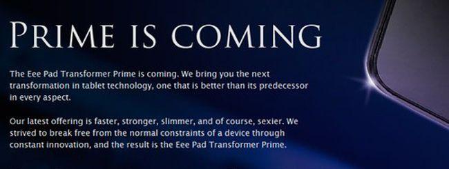 ASUS Transformer Prime a dicembre?