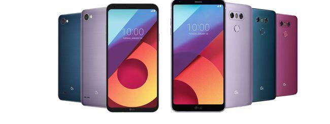 LG svela i nuovi colori per i suoi G6 e Q6