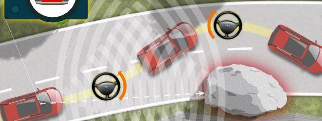 Ford testa un'auto che evita gli ostacoli