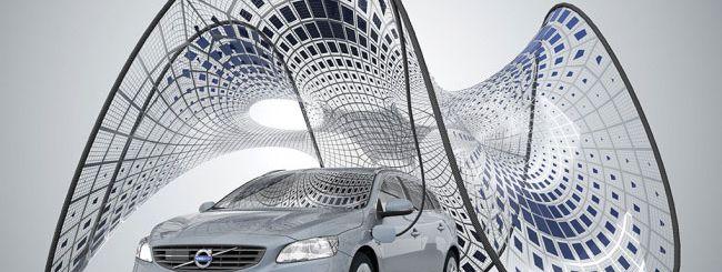 Volvo inventa la ricarica con pannelli solari