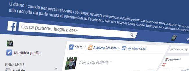 Facebook si adegua alla Cookie Law