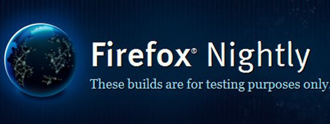 Firefox nightly build disponibile per tablet Android