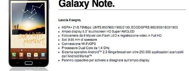 Samsung Galaxy Note e 3 Italia, ecco le tariffe dedicate