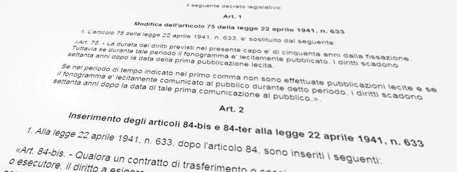 Diritto d'autore: da 50 a 70 anni