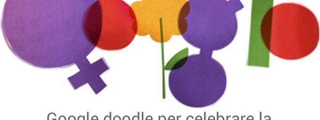 Festa della donna celebrata con un doodle
