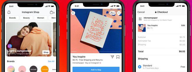 Facebook annuncia Instagram e Facebook Shops