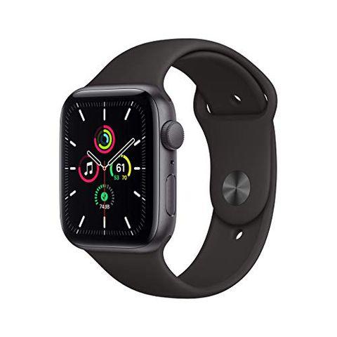 Apple Watch SE (GPS, 44 mm) Cassa in alluminio grigio siderale con Cinturino Sport nero