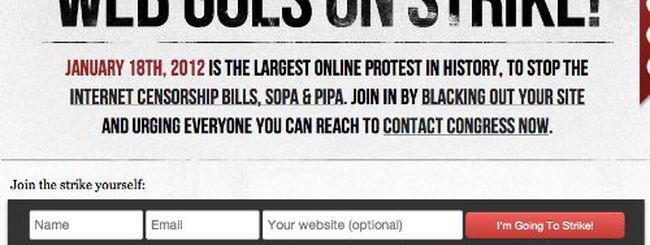 Legge SOPA: il Web in protesta