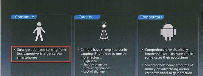 iPhone low-cost: l'utenza vuole smartphone ampi ed economici, e Apple lo sa
