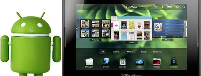 BlackBerry PlayBook: sì alle app Android e Java