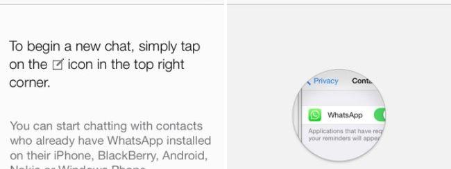 WhatsApp, nuova interfaccia per iOS 7