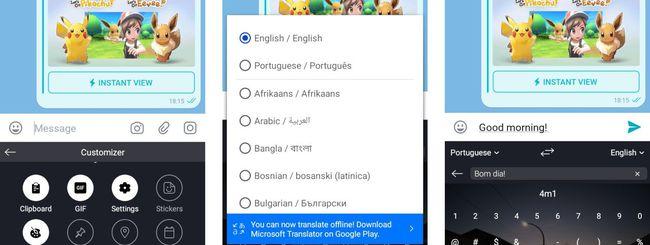 SwiftKey per Android con Microsoft Translator