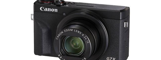 Canon, aggiornamento per PowerShot G7 X Mark III