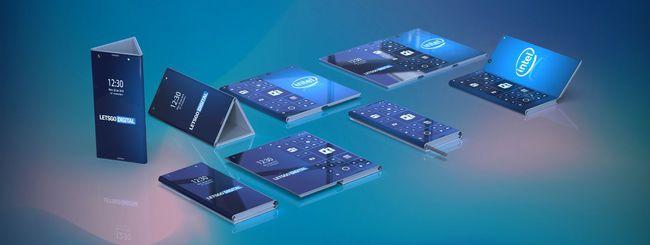 Intel brevetta uno smartphone pieghevole
