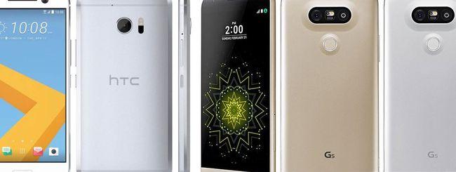 LG G5 e HTC 10, vendite inferiori alle attese