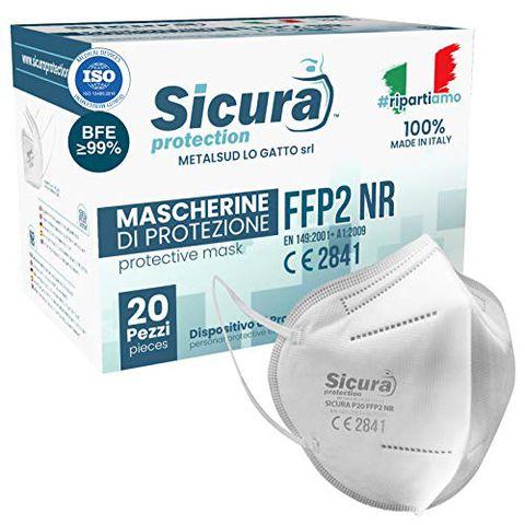 20 Mascherine FFP2 Certificate CE Italia Adulti