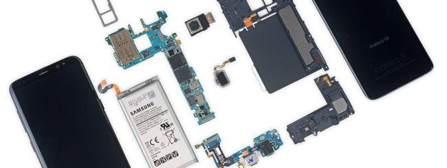 Samsung Galaxy S8, bello e impossibile da riparare