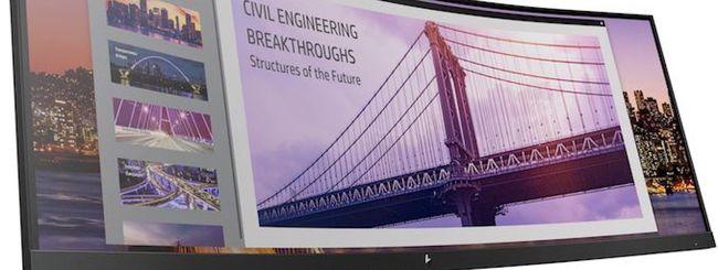 Questo è il nuovo monitor curvo di HP