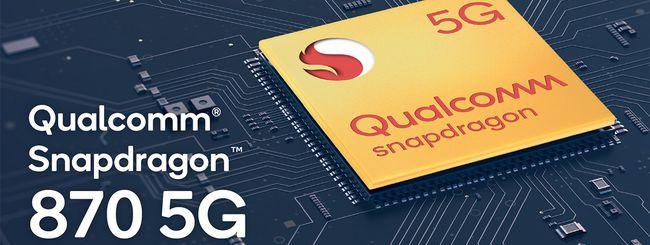 Qualcomm, Snapdragon 870 5G è ufficiale