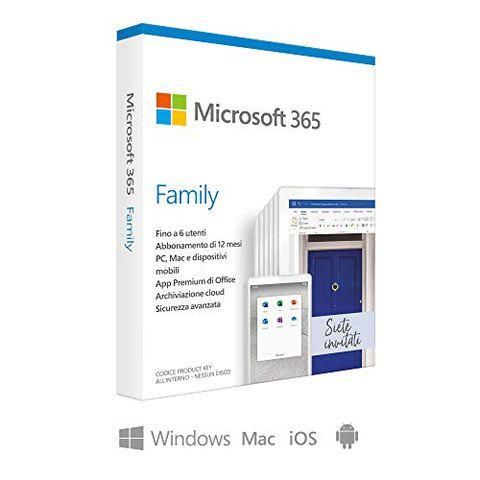 Microsoft 365 Family (Fino a 6 Persone, Abbonamento Annuale)