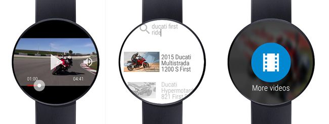 I video di YouTube sugli smartwatch Android Wear