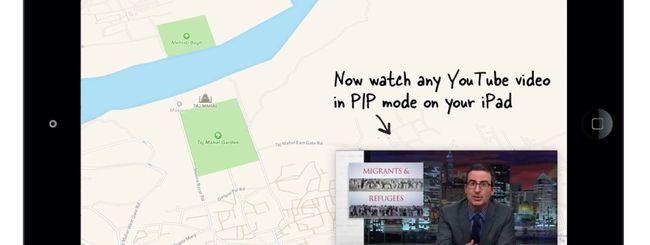 PiP, rimpicciolire un video su iPad (Picture in Picture)