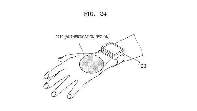 Samsung smartwatch - scanner vene